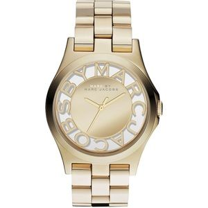 Marc by Marc Jacobs Gold Henry Skeleton Watch
